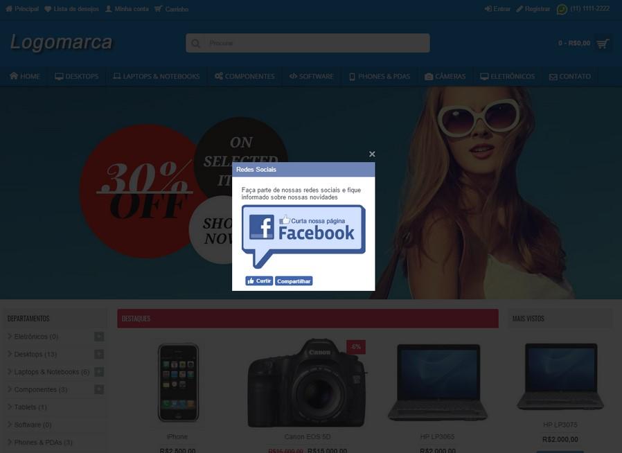 Botão curtir do Facebook